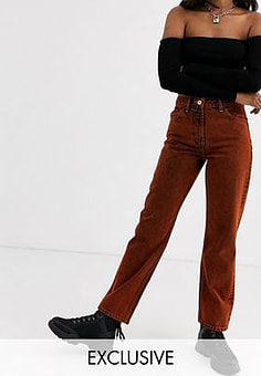 Collusion x005 straight jeans in overdyed red