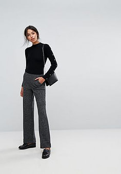 Esprit Wide Leg Tailored Trouser-Black