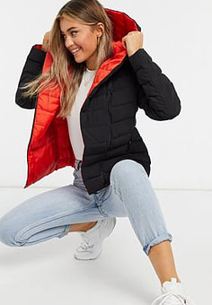 French Connection padded jacket in black