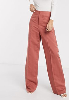 Mango campaign tailored trousers in pink