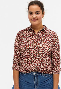 Monki Assa recycled floral print blouse in multi