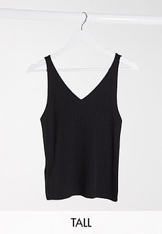 Only knitted vest in black