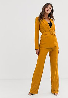 Paper Dolls tailored trousers-Yellow