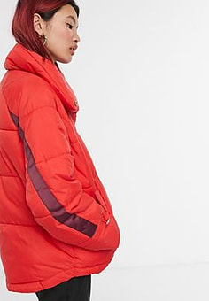 Y.A.S . Acapella short padded jacket in red