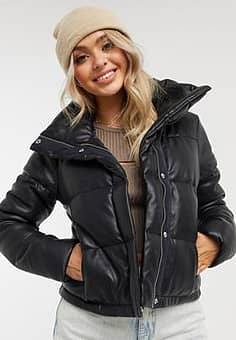 Abercrombie & Fitch padded jacket in black