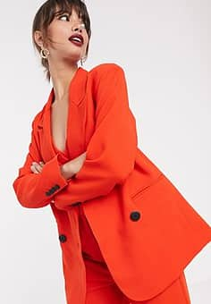 ASOS double breasted mansy jacket-Red
