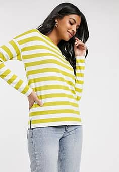 b.Young b. Young stripe long sleeve top-Yellow