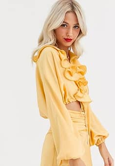 C/meo Collective knowing of this co-ord top-Yellow