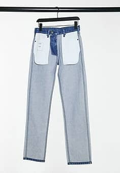 Calvin Klein EST 1978 inside out straight jeans in blue