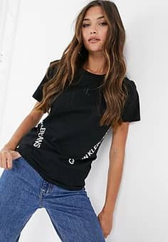 Calvin Klein logo tee in black