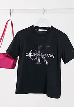 Calvin Klein New York printed tee in black