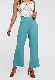 Closet  bootcut cropped trousers-Blue