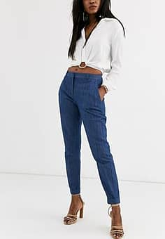 Closet  tailored trousers-Navy