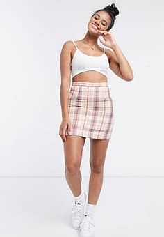 Daisy Street skirt in 90's check-Multi