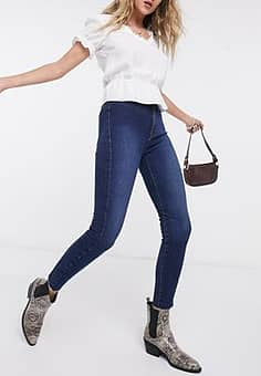 Free People Miles Away skinny jeans in blue
