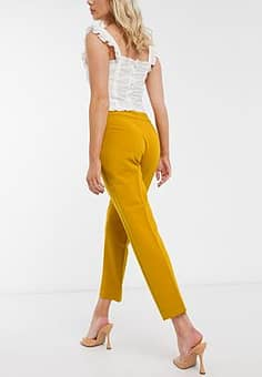 French Connection Awiti Whisper Ruthtailored Trousers in Yellow