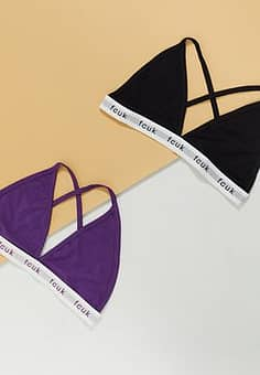 French Connection FCUK logo 2 pack bra's-Multi