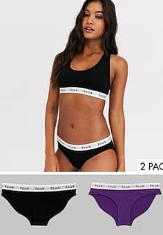 French Connection FCUK logo briefs multipack