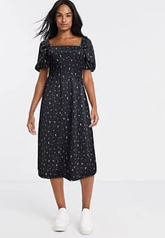 Monki Noelle dress in black