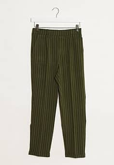 Stradivarius tailored trousers in green stripes