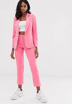 Unique 21 tailored cropped cigarette trousers-Pink