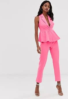 Unique 21 tailored straight leg trouser-Pink