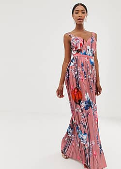 all over printed maxi dress in multi