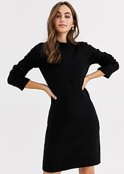 jumper dress in black