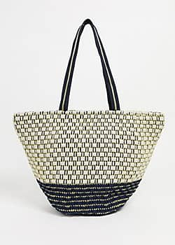 Woven Beach Tote Bag-Multi