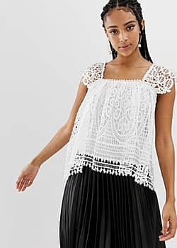 Amy Lynn broderie lace low back top-Multi