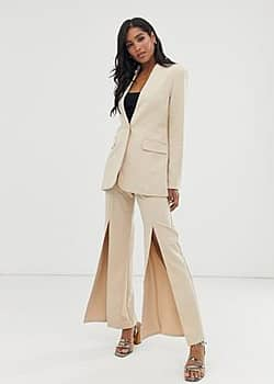 Amy Lynn wide leg trousers-White