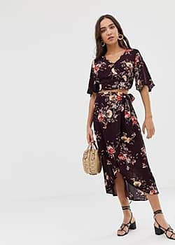 Band of Gypsies Band Of floral print wrap skirt-Multi