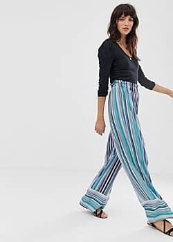 stripe trousers-Blue
