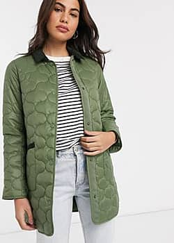 Erin quilted coat in sage green