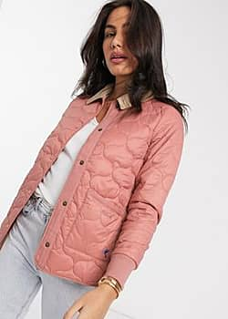 Hallie quilted jacket in dusty pink