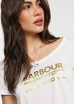 Barbour International Hurricane tee in white