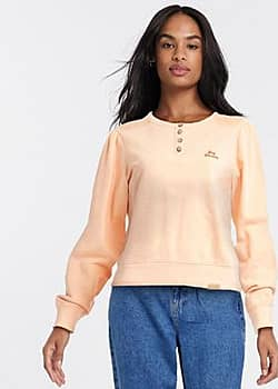 button up sweater in pink