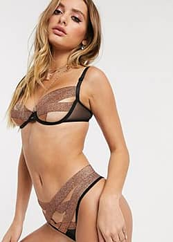 Emilia bandage thong in copper