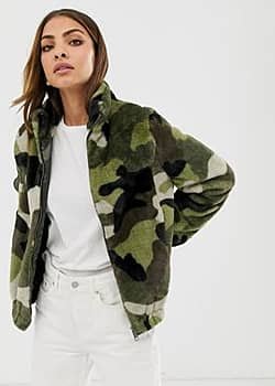 camo fleece jacket-Multi