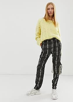 b.Young ikat printed trousers-Multi
