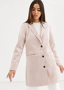 b.Young single breasted coat-Pink