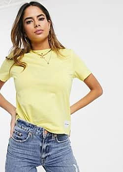 Calvin Klein core straight fit t-shirt-Yellow