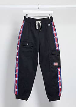 Champion logo tape cargo joggers-Black