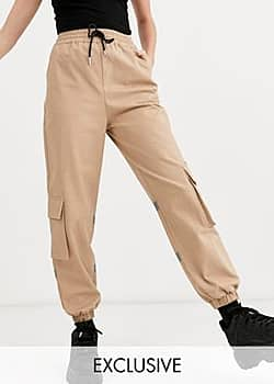 Collusion trousers with relfective panel-Brown