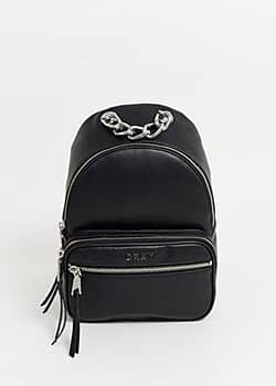 DKNY backpack with chain detail-Black