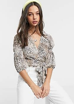 Faithfull bisset leopard wrap top-Brown