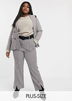 Fashion Union trousers in mixed check co-ord-Multi