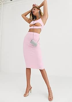 Fashionkilla going out midi skirt in rose-Pink
