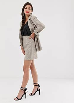 Finders Keepers Olivia skirt in beige snake print