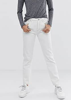Aiko straight cut jeans-White